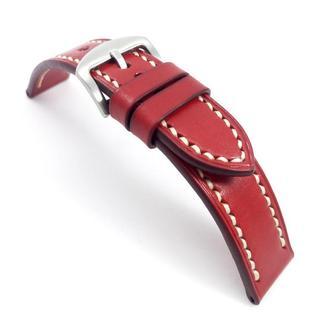 Ремешок для часов красный с белой / красной строчкой Basic Lobster