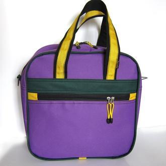Яркая спортивная сумка фиолетовая с желтым