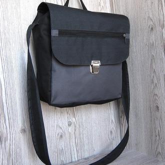 Темно-серая сумка-почтальонка, сумка для ноутбука или планшета