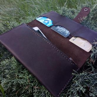 """Кожаный кошелек """"City"""", кожаное портмоне, кошелек на два сложения"""