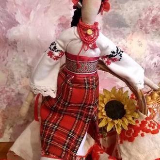 Кукла в стиле Тильда украинка Оксана