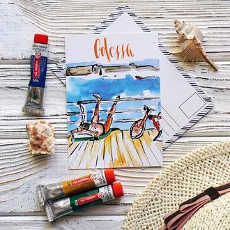 Листівка «Одеський пляж»