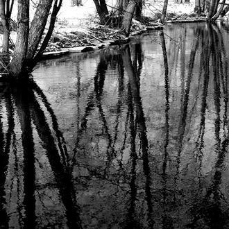 Пейзаж, ранняя весна, река