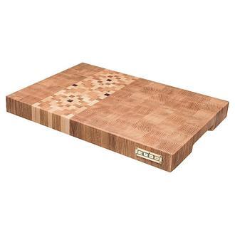 Торцевая разделочная доска CUBO Oak Ornament (Дуб,Клен,Орех) 40x29x4см
