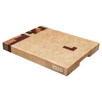 Торцевая разделочная доска CUBO Tetris (Клен,Орех,Сапеле,Груша,Дуб) 40x29x4см