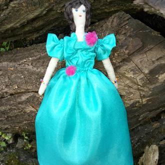 """Кукла """"Лазурная"""" в стиле тильда, текстильная, интерьерная,"""