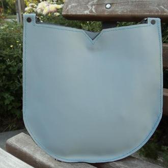 Кожаная круглая женская сумка