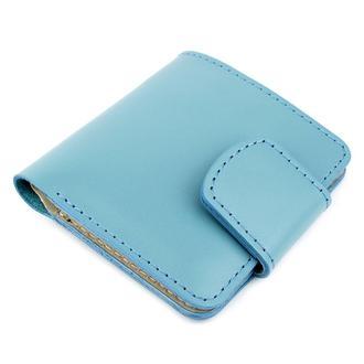 Кожаное портмоне П5-27 (голубое)