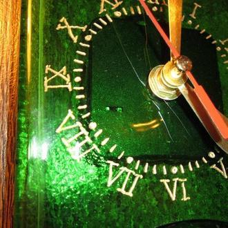 Необычные часы фьюзинг. Часы бутылка.