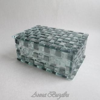 Шкатулка стеклянная «Лира»