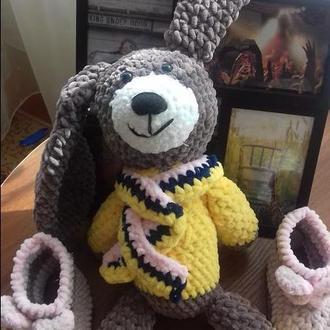 Плюшевая игрушка амигуруми зайка