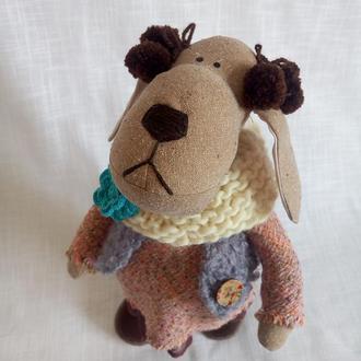 Игрушка текстильная. Собака игрушка Символ 2018 года. Интерьерная игрушка Собака.