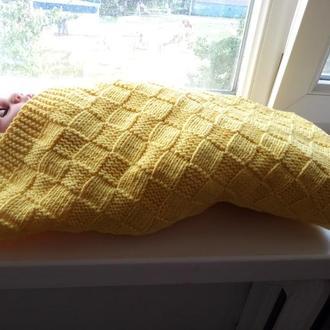 Комплект для новорожденного (плед, пинетки, шапочка)
