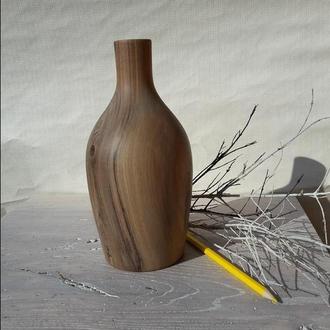 ваза из дерева для сухих цветов