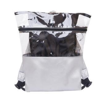 Рюкзак серый с прозрачными вставками