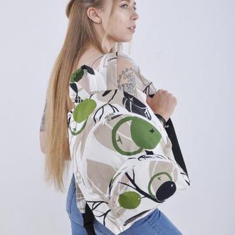 Рюкзак тканевый текстильный летний White Apple