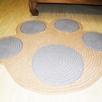 Еко килим рогожа «Лапа» з джуту