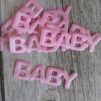 Надпис BABY рожевий
