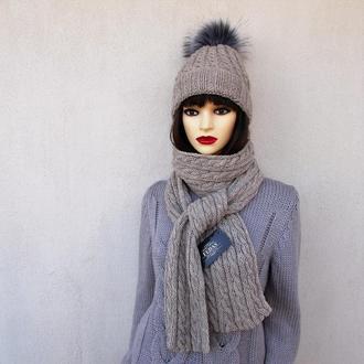 """Шапка и шарф комплект """"Луч Света"""""""