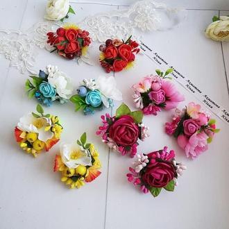 Резинки для волос с цветами