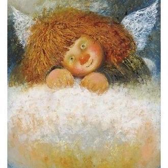 "Картина на холсте ""Ангел на облачке"""