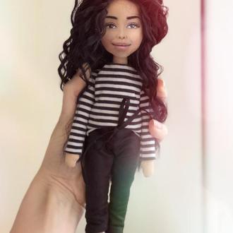 Текстильная мини Кукла с портретным сходством (брелок)