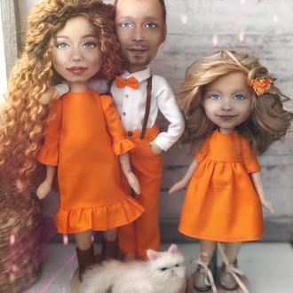 Кукольный семейный портрет