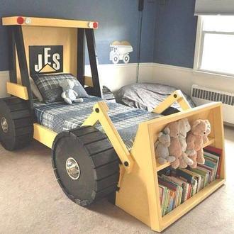 Детская кровать бульдозер / машина
