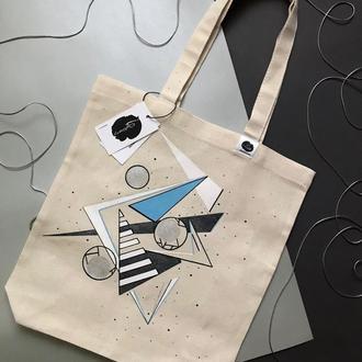 ЭКО-сумка с геометрией