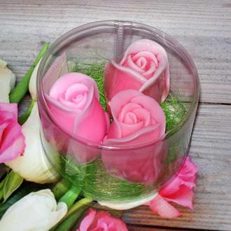 Сувенирное мыло: роза в наборе