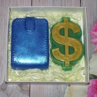 """Сувенирное мыло набор """"Доллар и кошелёк"""""""