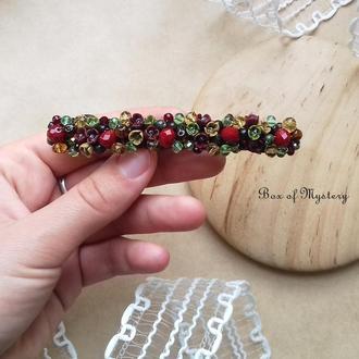 Заколка для волос с миниатюрными цветами, аксессуар для волос с цветами, 10 см