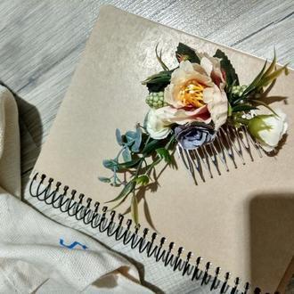 гребінець з квітами /гребень для волос/гребешок с цветами /заколка