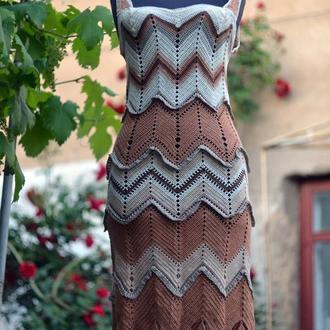 """Платье ручной работы""""Кофе с карамелью"""""""