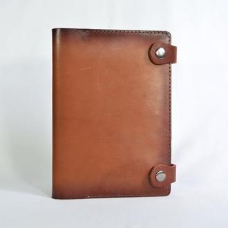 Кожаная обложка на блокнот А5 коричневый