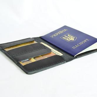 Шкіряна обкладинка на паспорт