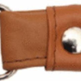 Ручки для сумок кожаные с карабином, 52 см Camel