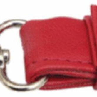 Ручки для сумок (искусственная кожа) с карабином Red
