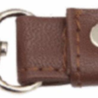 Ручки для сумок (искусственная кожа) с карабином Brown