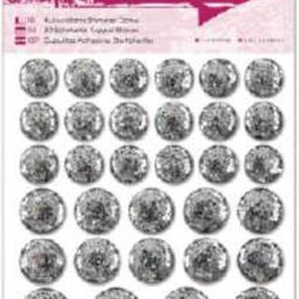 Декоративные клеевые элементы Серебристые круги