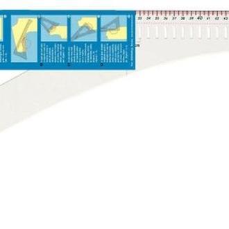 Лекало портновское 0,3x60,5x24,5 см,60 см и 24 см шкала,Prym