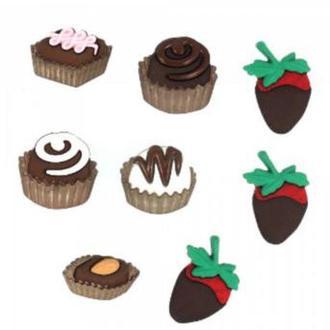 """Декоративные пуговицы """"Шоколадное удовольствие"""""""