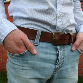 Чоловічий шкіряний ремінь від écorce (écorce man leather belt)