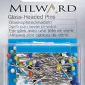 Булавки со стеклянными головками Milward , 30х0,6мм