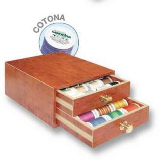 Cotona маленькая шкатулка (24xCotona 200м, 10xCotona 400м мульти, 3xBobbinfil 1500м, 2xMonofil 1000м)