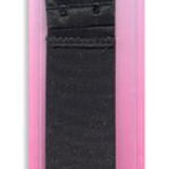 Застежка для изменения объема бюстгалтера (резинка+крючки),38мм,черный