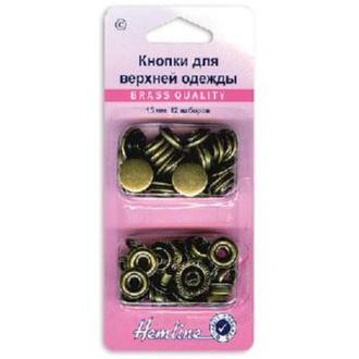 Кнопки для курток 15мм старая бронза 12шт
