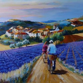 """Картина-раскраска Mariposa """"Прогулка по лавандовым полям Худ Кристиан Жекель""""  40 х 50 см"""