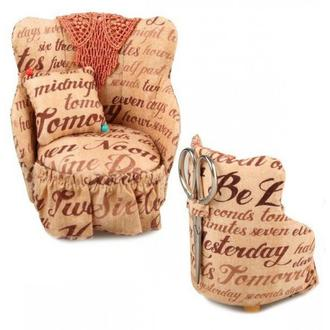 Декоративная игольница в форме кресла с ножницами,RTO