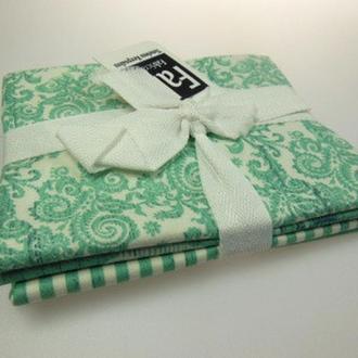 Набор тканей из серии Shabby Chic, бирюза
